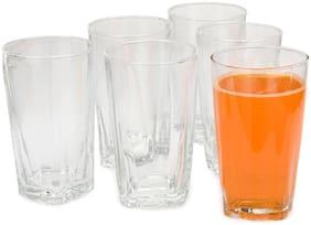 Verma 300 ml Transparent Water/Juice Glass Set-Q9