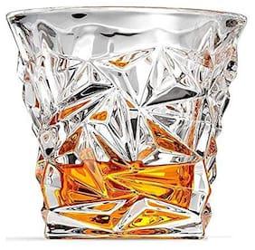 Verma Diamond Cutting Transparent Whiskey/Water/Juice Glass Set, 300ml, ( Pack Of 1 )