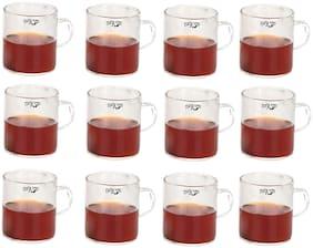 Verma New Stylish Borosilicate Tea/Coffee Cup Set, Pack of 12-WE6
