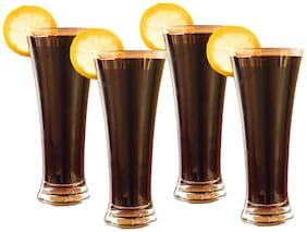 Verma New Transparent Beer/Water/Juice Glass Set, 400ml, ( Pack Of 4)
