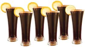 Verma New Transparent Beer/Water/Juice Glass Set, 400ml, ( Pack Of 6 )