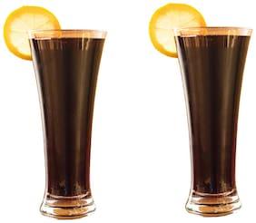 Verma New Transparent Beer/Water/Juice Glass Set, 400ml, ( Pack Of 2 )