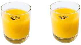 Verma Old Fashioned Transparent Whiskey/Juice/Water Glass Set, 350ml, ( Pack Of 2 )