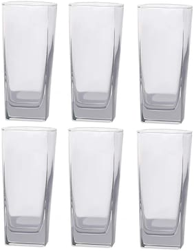 Verma Stylish Transparent Water/Juice Glass Set, 220 ml capacity With 4 mm thickness of Glass, ( Pack Of 6 )