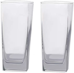 Verma Stylish Transparent Water/Juice Glass Set, 220 ml capacity With 4 mm thickness of Glass, ( Pack Of 2 )
