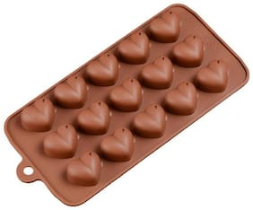 VFS Vardhman Silicon Chocolate Heart Shape Mould, Set of 1
