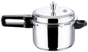 Vinod Cookware PTPC-5.0 Stainless Steel 5 L Induction Bottom Outer Lid Pressure Cooker - Set of 1 , ISI Certified