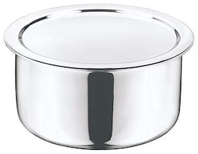 Vinod Platinum Triply Stainless Steel Tope with Lid - 20 cm,3.5 LTR (Induction Friendly)