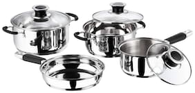 Vinod Cookware Stainless Steel Induction Friendly Master Chef Cookware Set- 4 Pieces