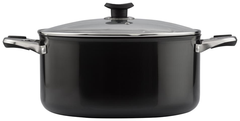 Vinod Cookware Hard Anodised Sauce Pot With Lid,30 Cm,11.2 L