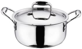 Vinod Cookware Platinum Triply Induction Friendly Stainless Steel Sauce Pot With Lid