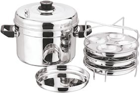 Vinod Cookware Idi Steamer Multi Pot with Idli Plates Small, Stainless Steel