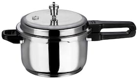 Vinod Cookware Stainless Steel 5 L Induction Bottom Outer Lid Pressure Cooker - Set of 1 , ISI Certified