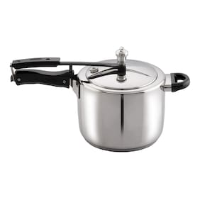 Vinod Cookware Sandwich Bottom Stainless Steel Induction Friendly Inner Lid Pressure Cooker,5 Ltr