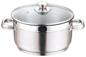 Vinod Cookware Stainless Steel Induction Friendly Two Tone Sauce Pot
