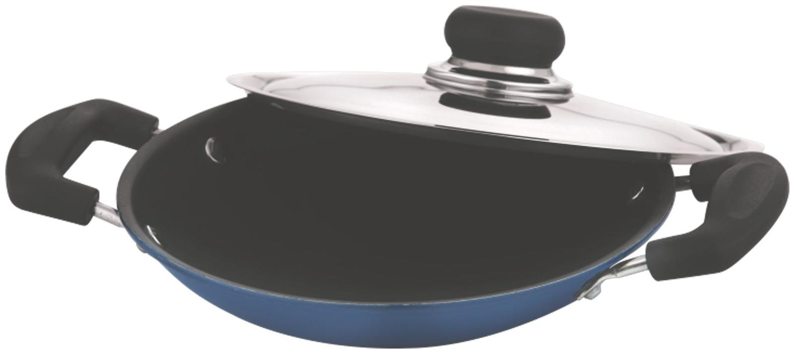 Vinod Cookware 3mm Non Stick Appachetty with Lid, 20 cm, Aluminium by Value Tree Retail