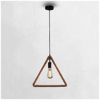Vintage  Edison lamp Rope hanging/pendant , E27 Holder, Decorative, Triangle Shape