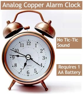 E-DEAL Metal Analog Alarm clock ( Set of 1 )
