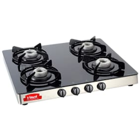 Virat 4 Burners Gas Stove - Silver