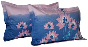 Vissage Blended Printed Pillow Covers ( Pack of 1 , Multi )