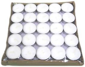 Visaga Paraffin wax White Candle