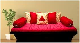 Vissage Cotton Geometric Single Size Diwan Sets - Pack of 8