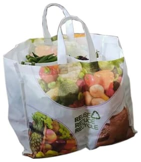 VITARA Organics Eco Vegetable Bag with 6 Pockets for Purchase Vegetables, Provision and More