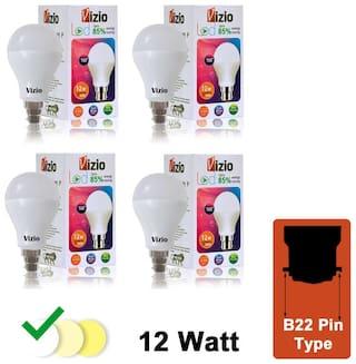 Vizio 12 watt Premium quality LED Bulb (Set of 4)with 6 Months Warranty.