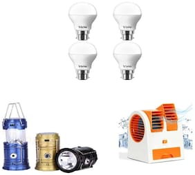Vizio 9 Watt Led Bulb And Solar Lantern With Free Usb Portable Cooler
