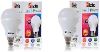 Vizio 9 Watt Premium Quality LED Bulb (Set of 2) with 6 Months warranty