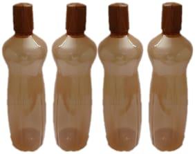 VJ 1000 ml Plastic Brown Fridge Bottles - Set of 4