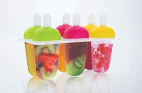 VNS Plastic Ice Cream Candy Kulfi Maker Popsicle Mould Multicolor Plastic Ice Cube Tray