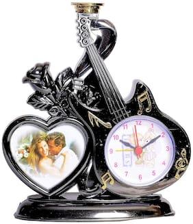 TAMBOORA Plastic Analog Table clock ( Set of 1 )