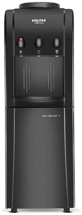 Voltas Pearl Black 3 L/hr L Cold Water & 5 L/hr L Hot Water Water Dispenser with Cooling Cabinet (Black)