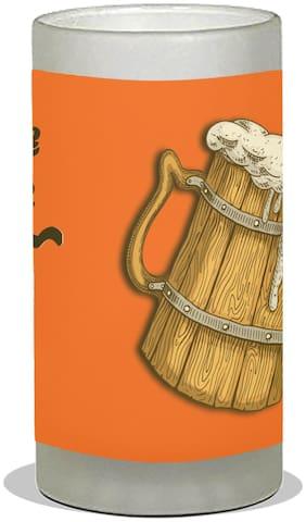 Vratim Frosted Beer Mug;Cocktail party;Beer Party;Beer Mug;Beer Glass;Birthday Party;Party & Celebration With Lovely Quotes Save Water Drink Beer Orange;600 ml Beer Mug