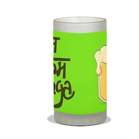 Vratim Frosted Beer Mug;Cocktail party;Beer Party;Beer Mug;Beer Glass;Drinking Party;Birthday Party;Party & Celebration With Lovely Quotes/Design;Aaj Kam Pyunga Green;600 ml Beer Mug Multicolor