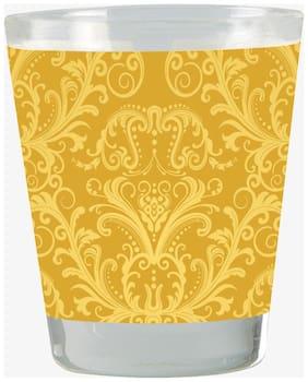 Vratim Vodka Shot Glass;Tequila Shot Glass;Chocolate Glass;Whisky Glass Golden Texture Print Gold Plated 40 ML Multicolor Bar Accessory