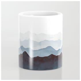 Vrinda- indigo-mountains-landscape-Tea;Coffee / Milk Mug;(1 Piece)