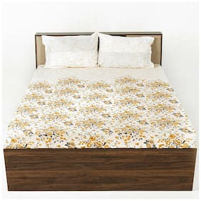 Wakefit Cotton Floral Double Size Bedsheet 200 TC ( 1 Bedsheet With 2 Pillow Covers , Multi )
