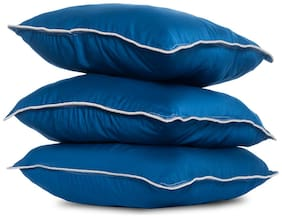Wakefit Hollow Fibre Filled Cushion Pack of 3 -Blue