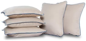 Wakefit Hollow Fibre Filled Cushion,16x16 inch,Taupe,Set of 5