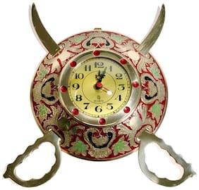 Rastogi Handicrafts Metal Analog Wall clock ( Set of 1 )
