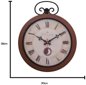 Home Sparkle Steel Analog Wall clock ( Set of 1 )
