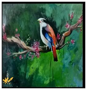 Depiction Paper & Glass Embroidered & Abstract Assorted Canvas Painting ( 1 )