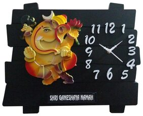 Wall Hanging Religious God Clock Ganesha idol decorative For Home Room Office Temple Mandir Murti Wall Decor Frame Showpiece Gift item