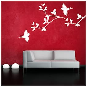 Wall Sticker (Bird branche,PVC Vinyl,Surface Covering Area - 30 x 53 cm)