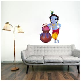 Decor Villa Twiner Fairy Wall Sticker PVC Vinyl Size -58 cm X 48 cm Multicolor