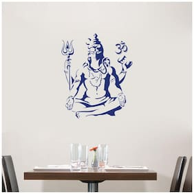 Wall Sticker (Lord Shiva,Surface Covering Area 48 x 58 cm)