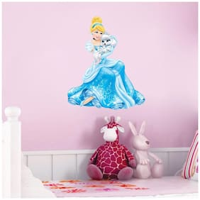 Wall Sticker (Blue Fairy,Surface Covering Area 48 x 58 cm)