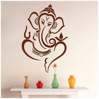 Wall Sticker (Unice ganesha,PVC Vinyl,Surface Covering Area - 30 x 45 cm)